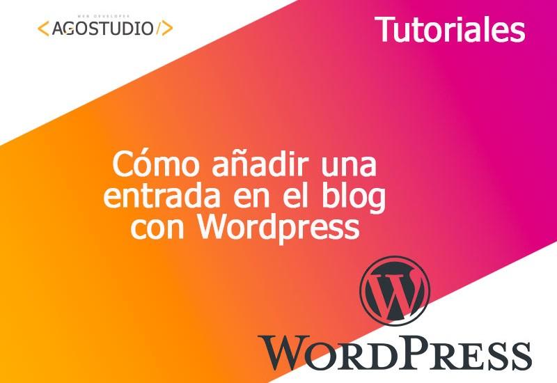 Como crear una entrada en el blog de Wordpress