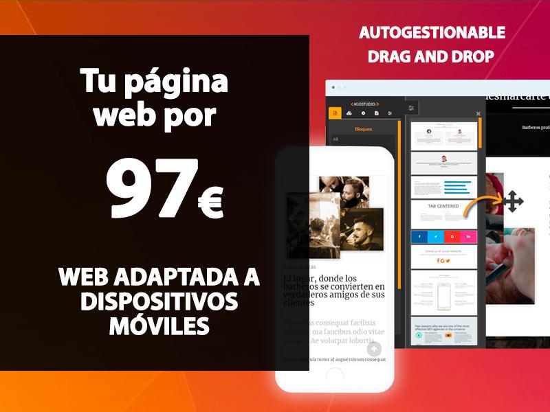 página web barata