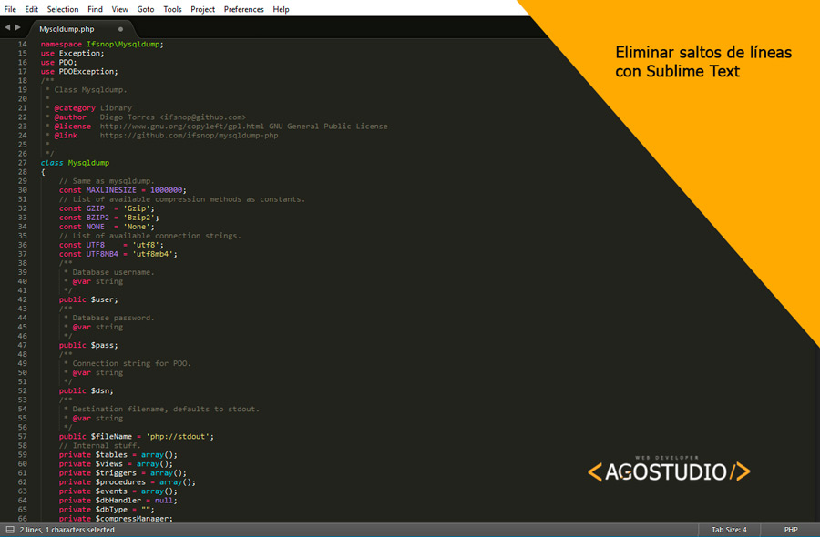 Solucion quitar espacio de linea al final con sublime text