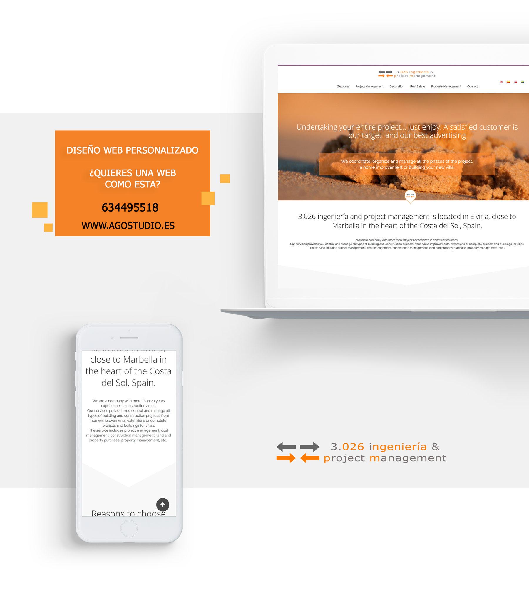 Diseño web para ingeniero construcción Marbella
