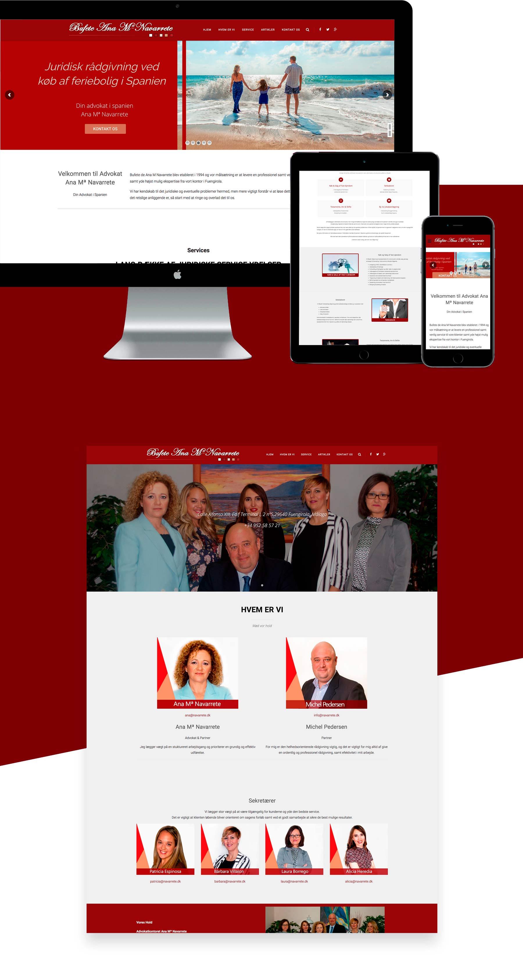 Diseño web wordpress web para abogado Advokat Málaga Danés