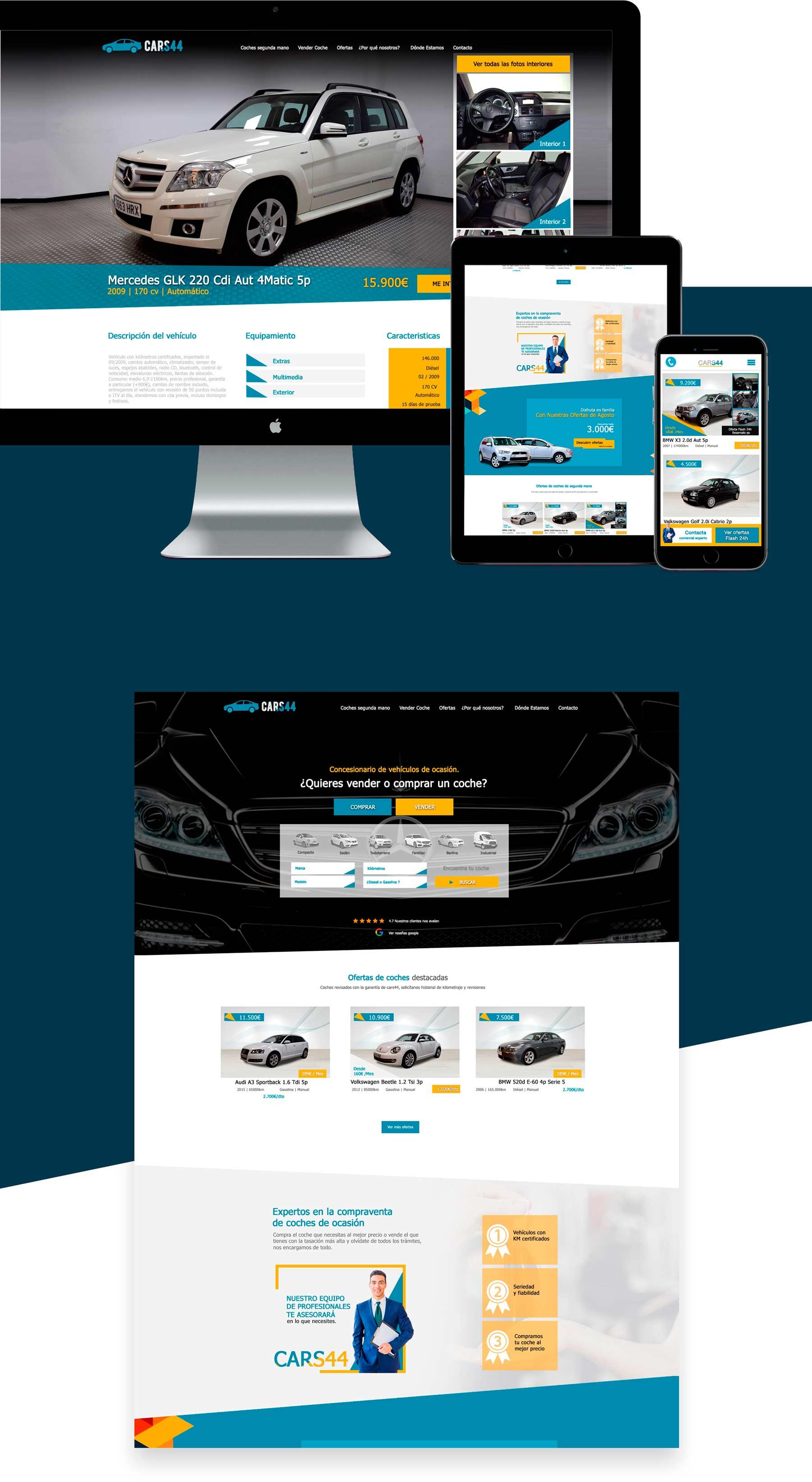 Diseño web a medida programación web Málaga Concesionario Automoción Málaga Madrid Barcelona Bilbao
