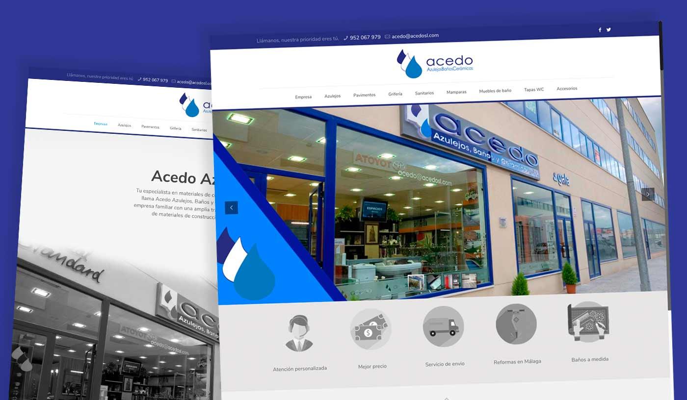 Acedo Azulejos Málaga - Diseño con Wordpres