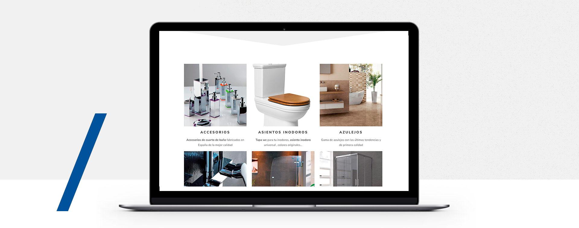 Diseño web empresa construccion ceramicas azulejo málaga