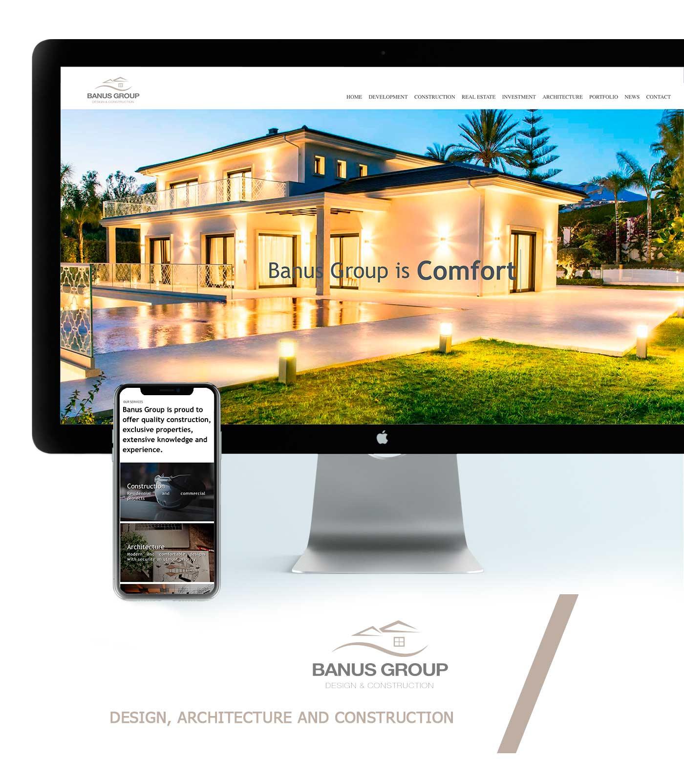 diseño página web inmobiliaria marbella - Real estate Banusgroup
