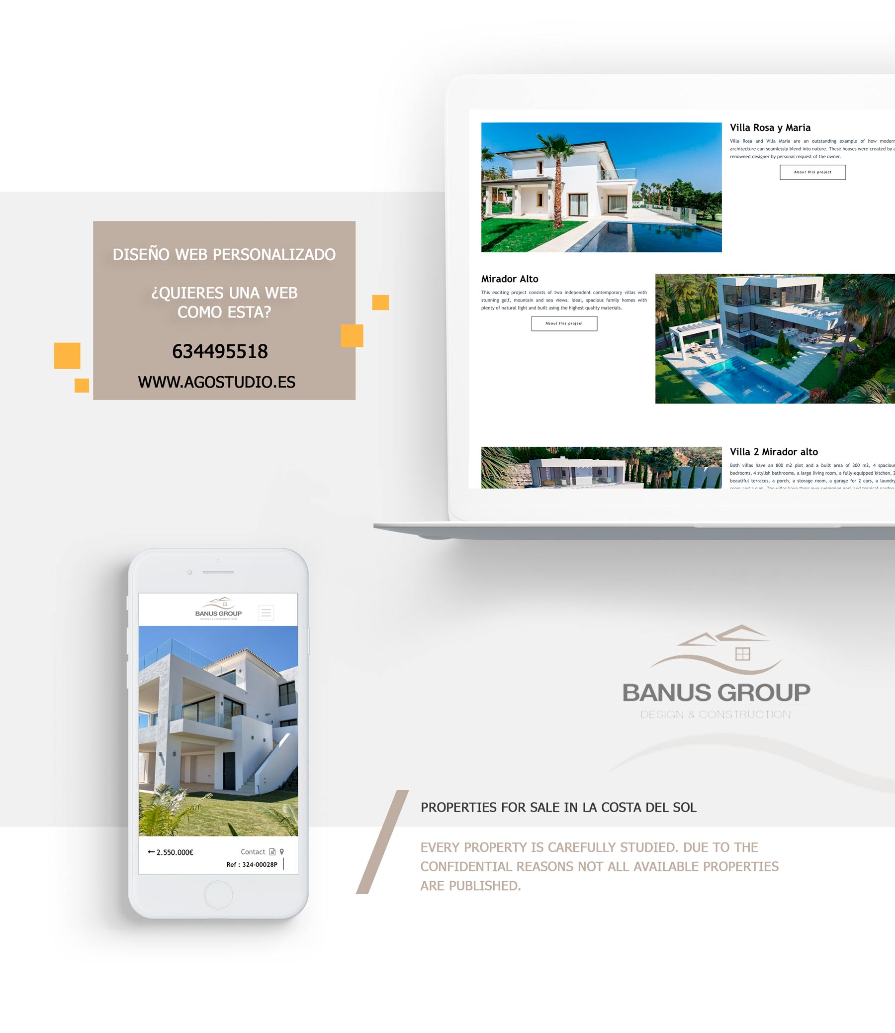 Web Design by property in Marbella - Banus Group - Proyect