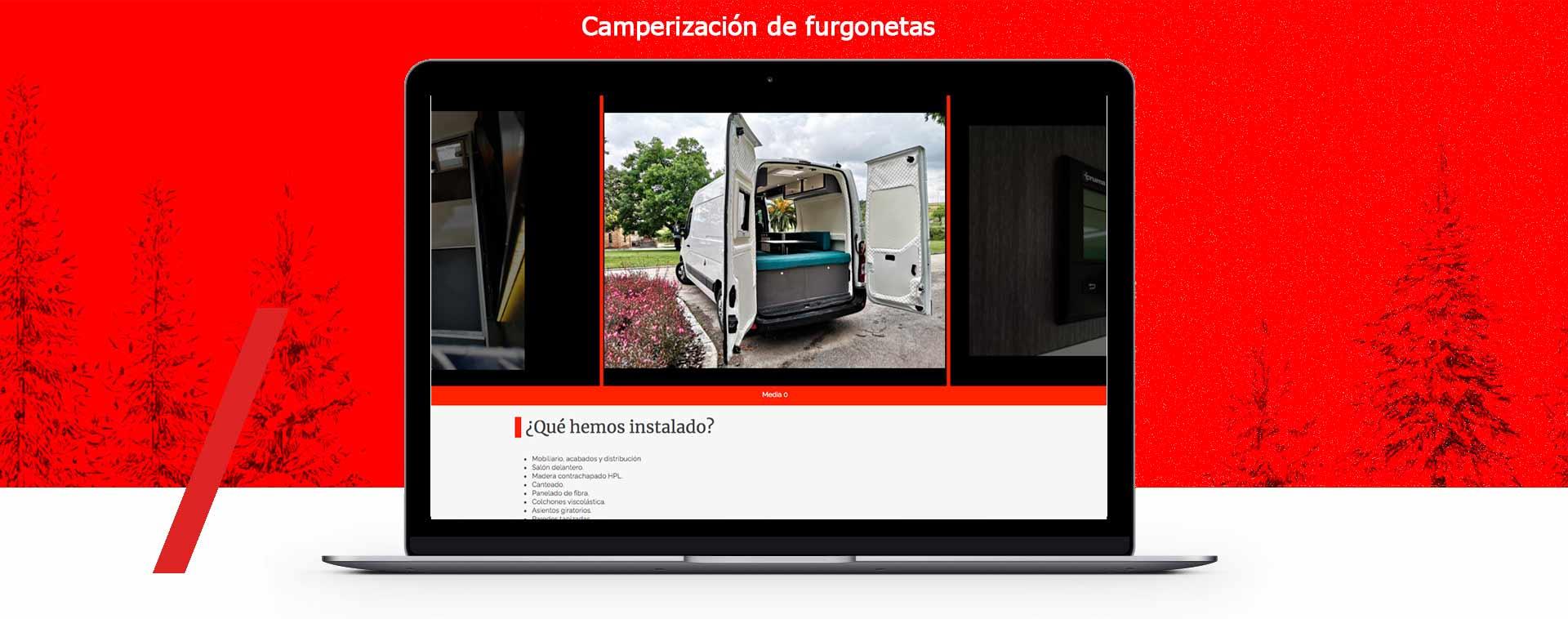 Presentacion diseño web Empresa cmaperizado de furgonetas en Barcelona