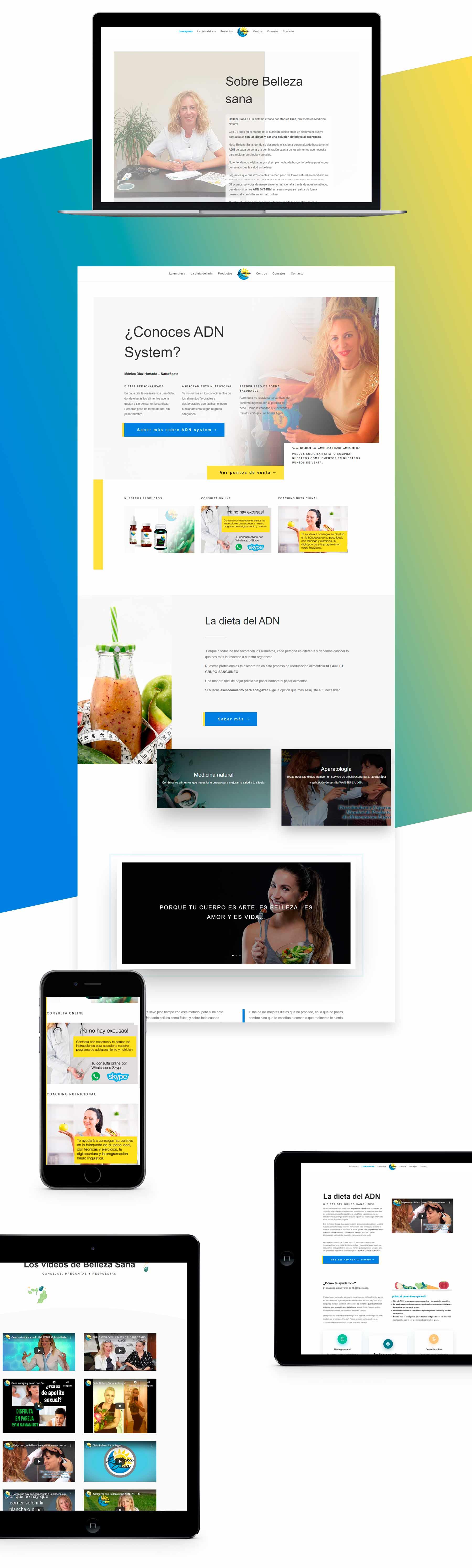 Diseño web para nutricionista y dietista Mónica Díaz ADN