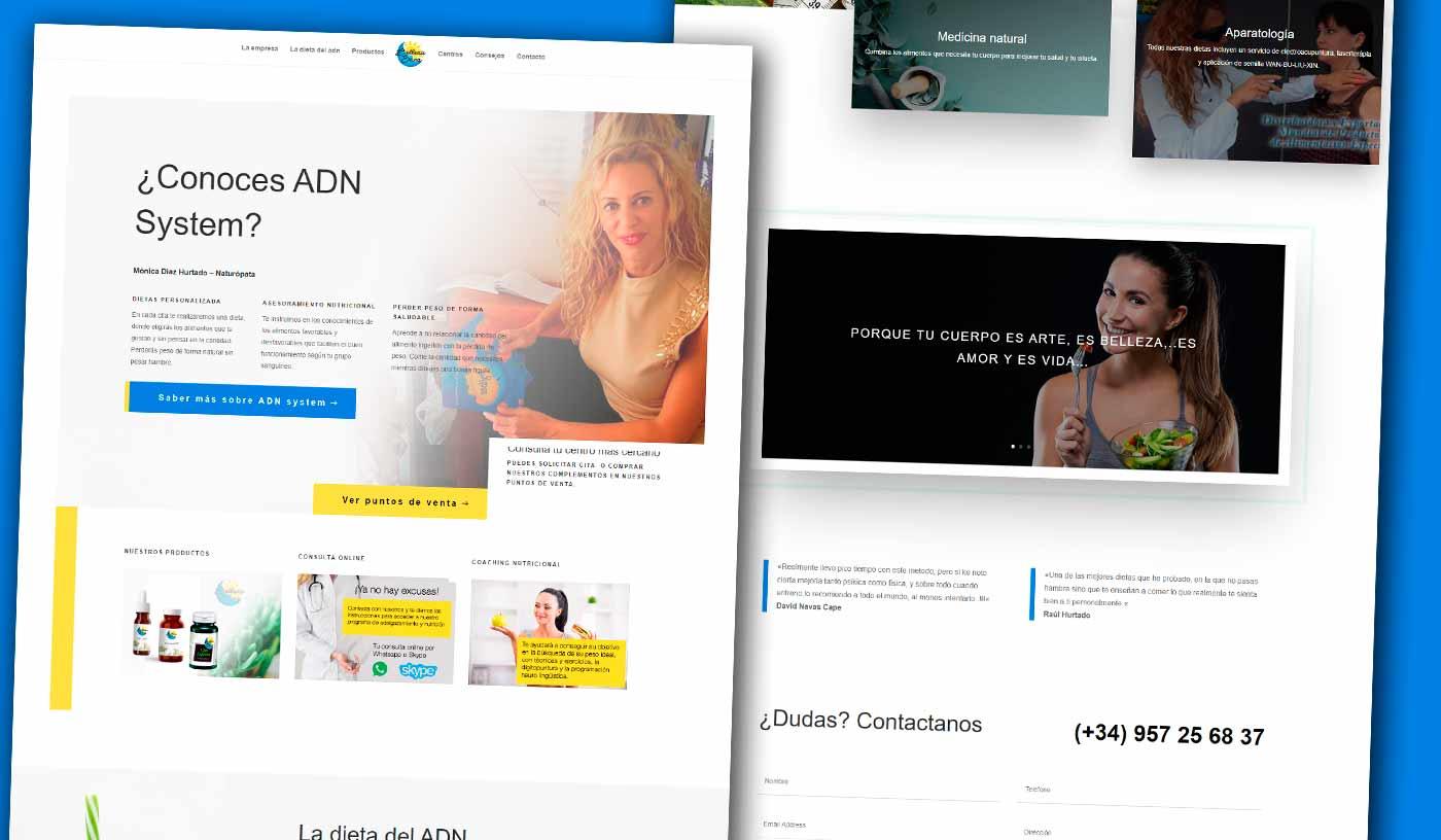 Diseño página web para dietista nutricionista