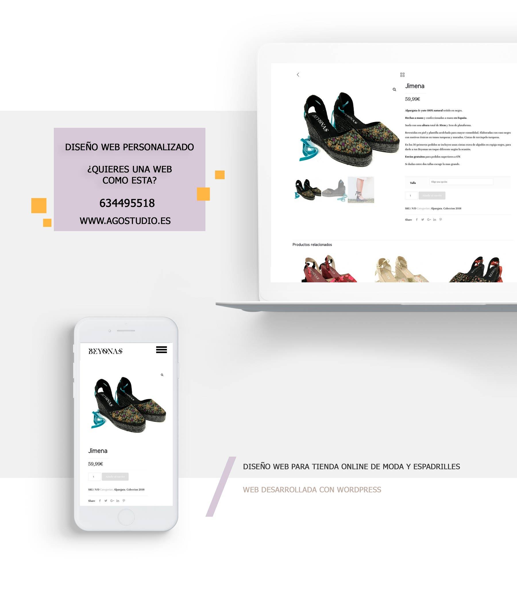 diseño de tienda online a medida minimalista en Fuengirola Marbella Malaga