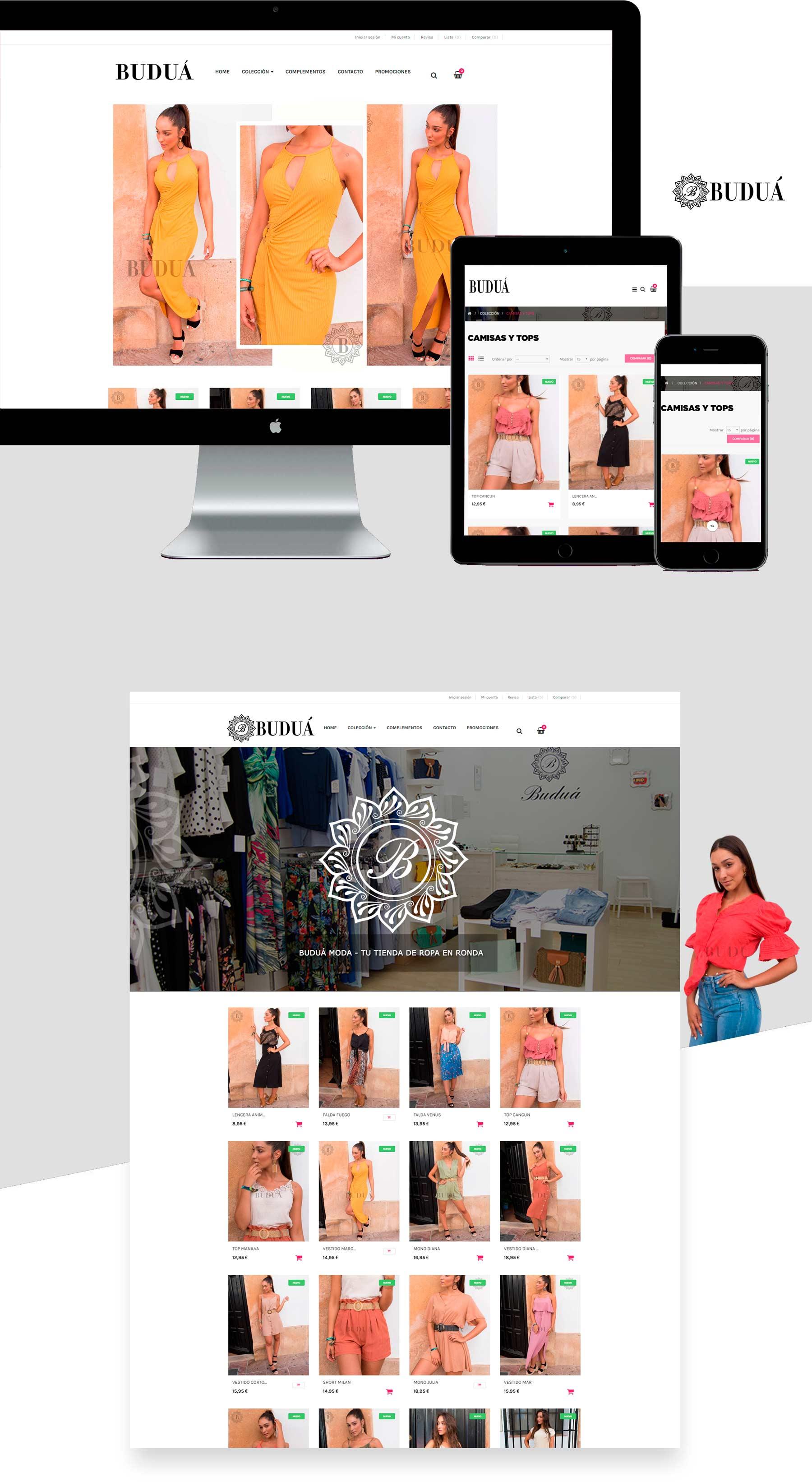 diseño web para tienda online de ropa de mujer en málaga