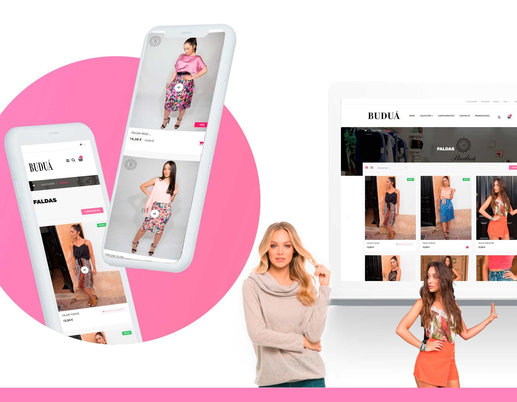 diseño web tienda online  de ropa de mujer - Málaga Ronda