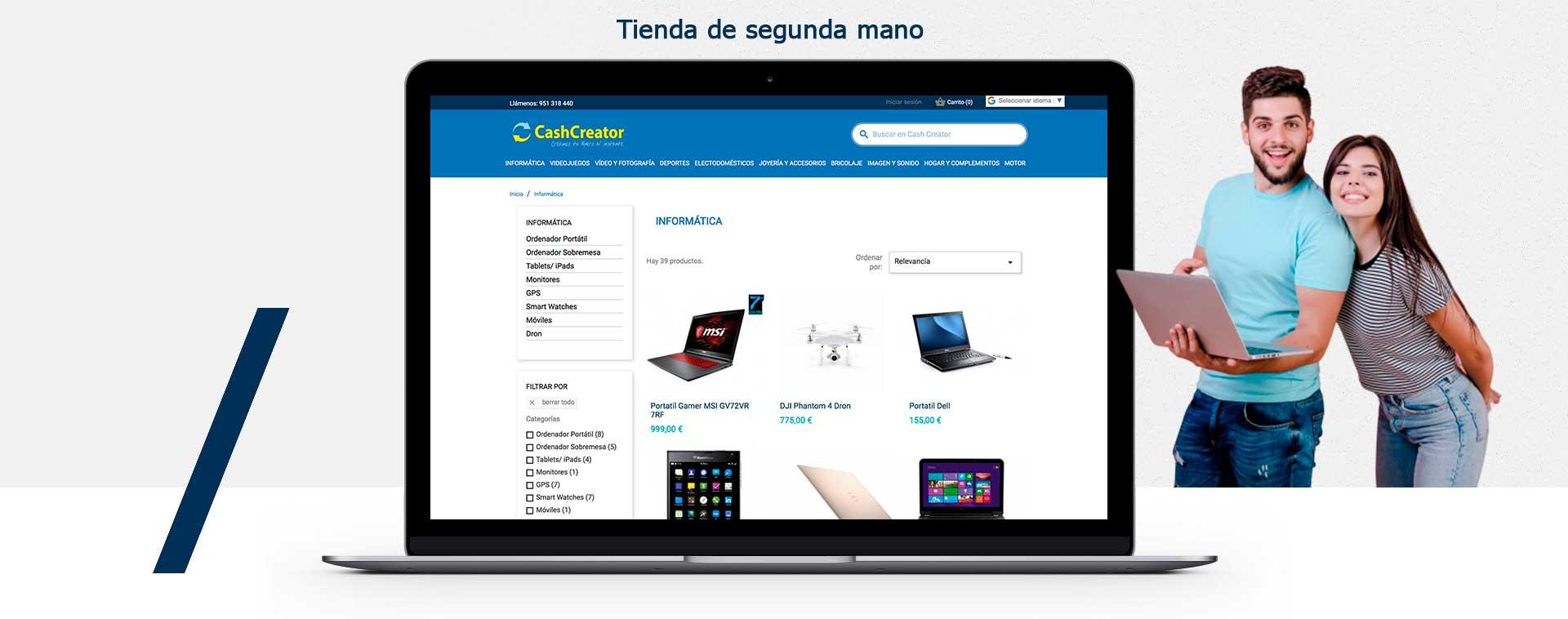 diseño de tienda online tienda de empeñoMarbella Malaga