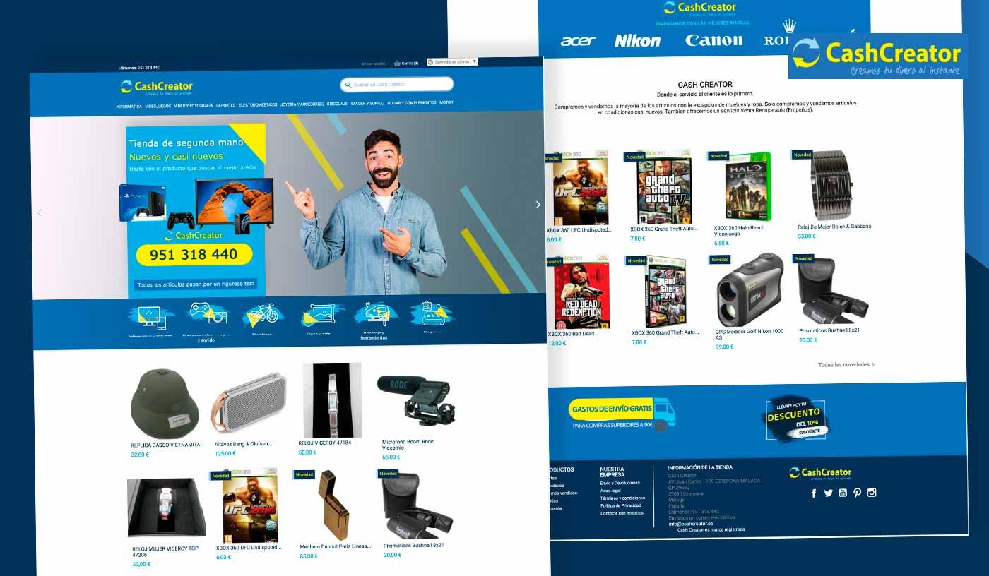 Diseño de tienda online compra venta de articulos de segunda mano Málaga - Marbella