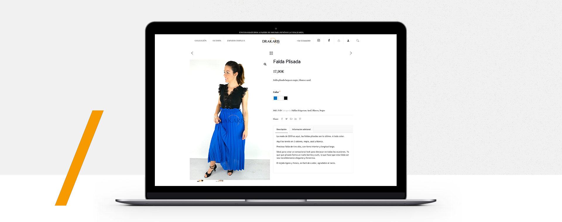 tienda online Málaga diseño personalizado minimalista