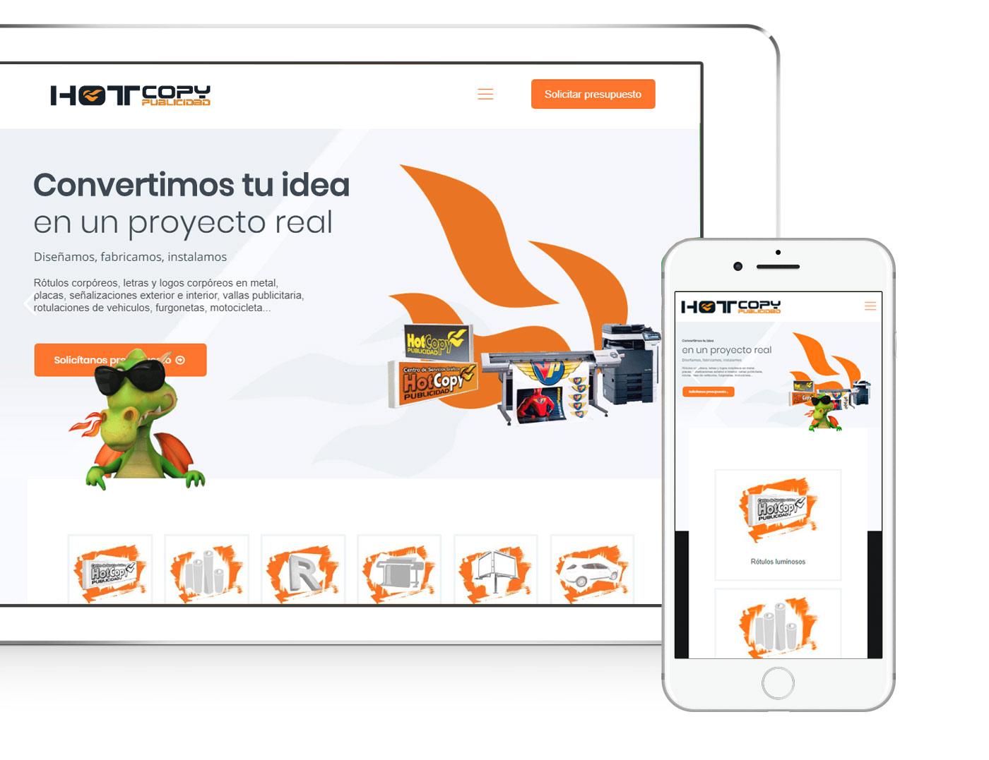 Diseño web hotcopy publicidad rotulacion malaga mijas