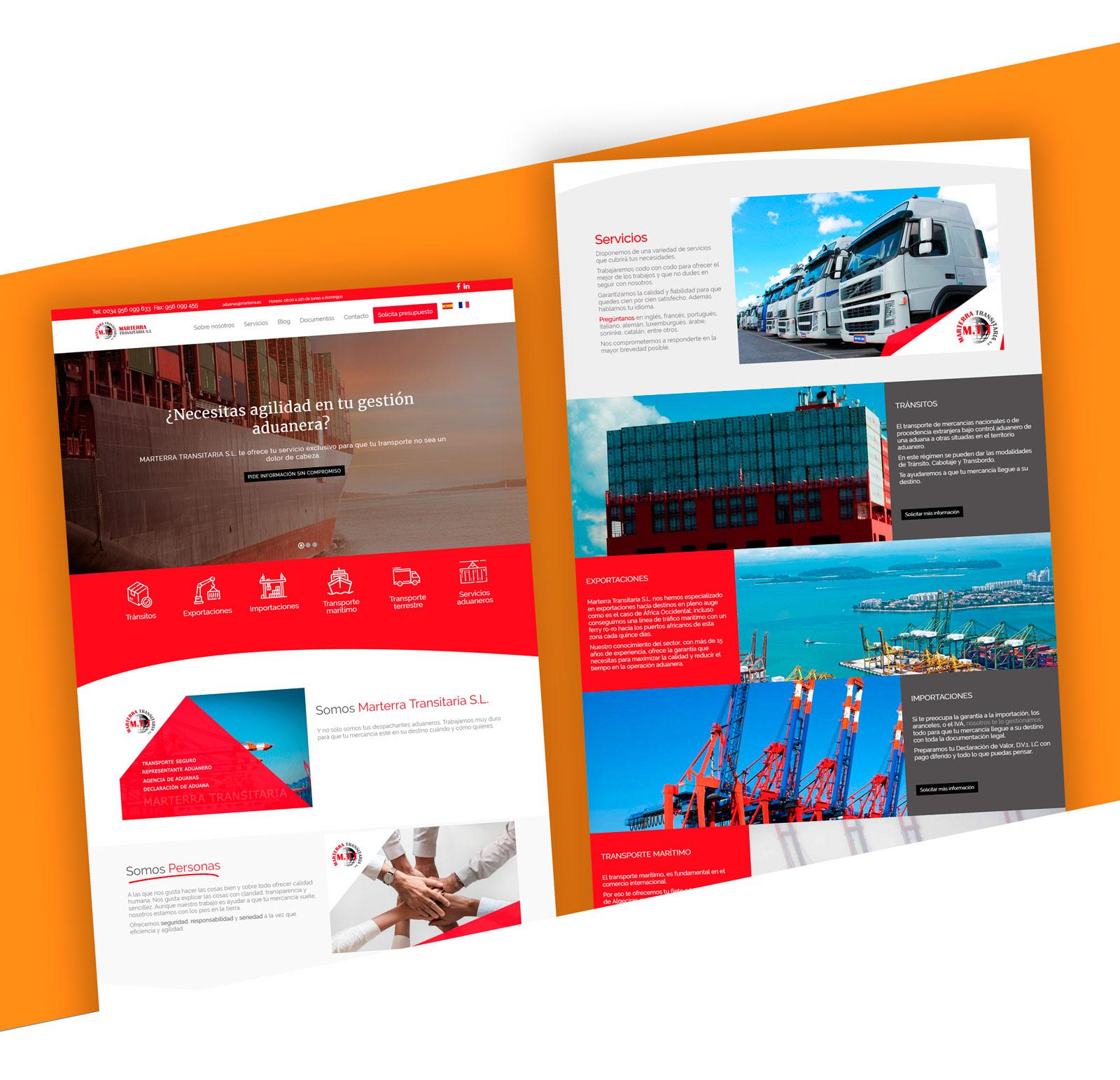 marterratransitaria web desarrollada con Niviweb