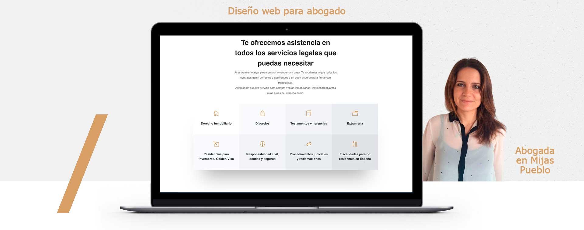 Diseño web para abogado (bufete) en Mijas pueblo Málaga