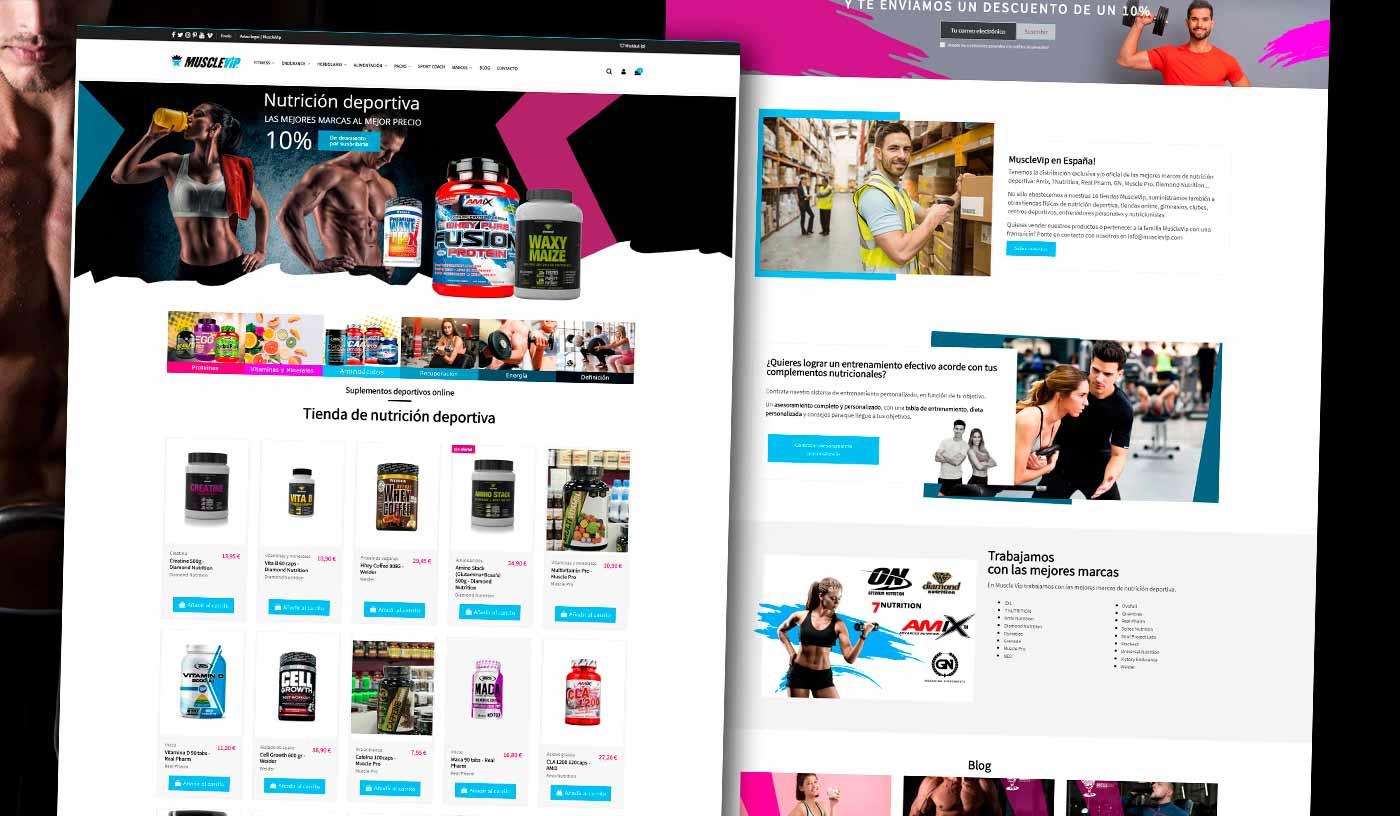 Diseño tienda online nutrición deportiva