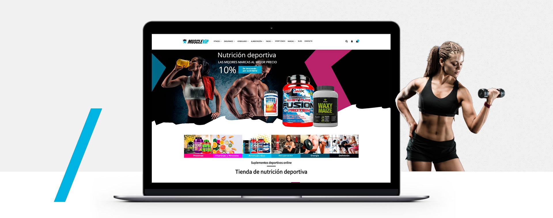 Presentacion diseño de tienda online de nutrición deportiva Benalmádena (Málaga)