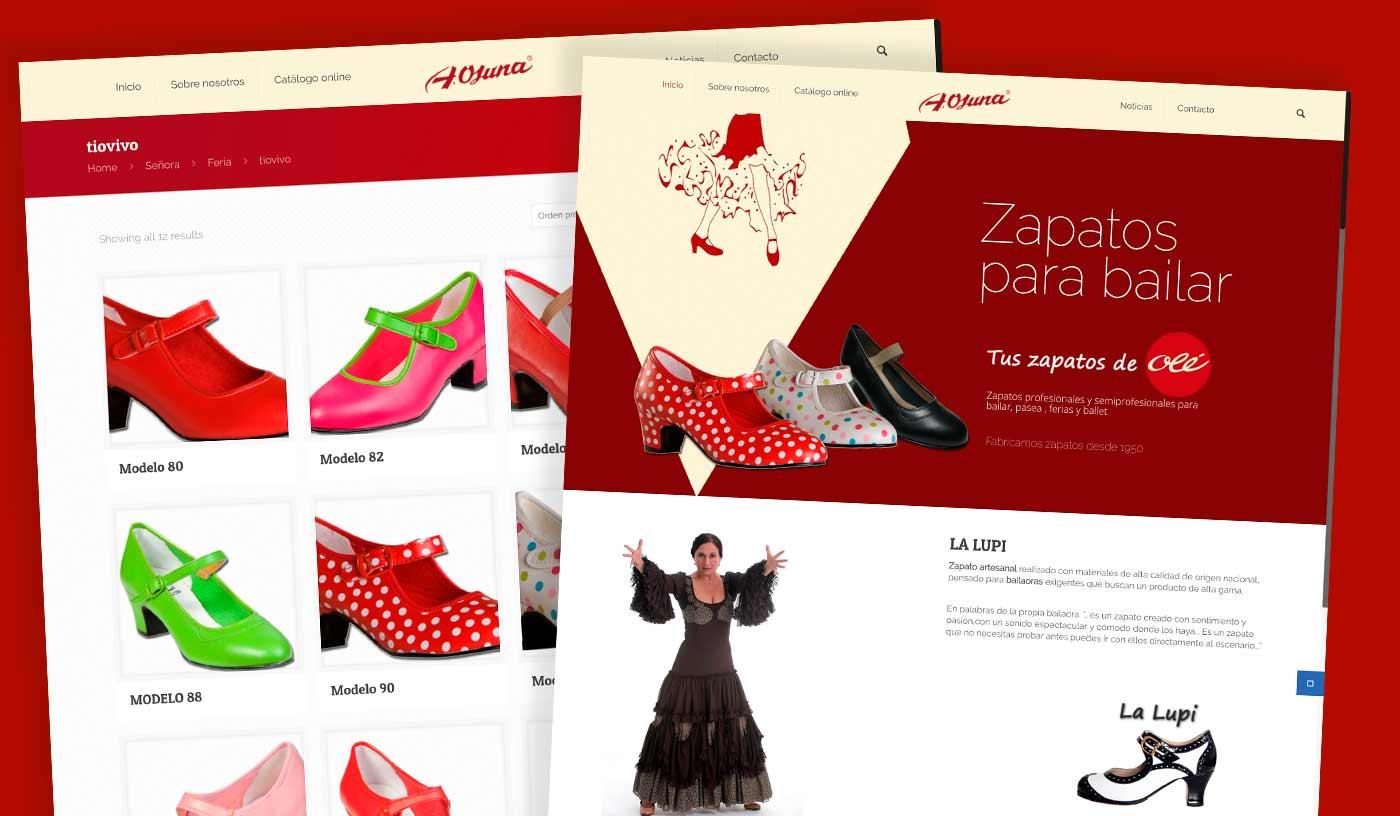 Ole tus zapatos - Diseño a medida wordpress Málaga