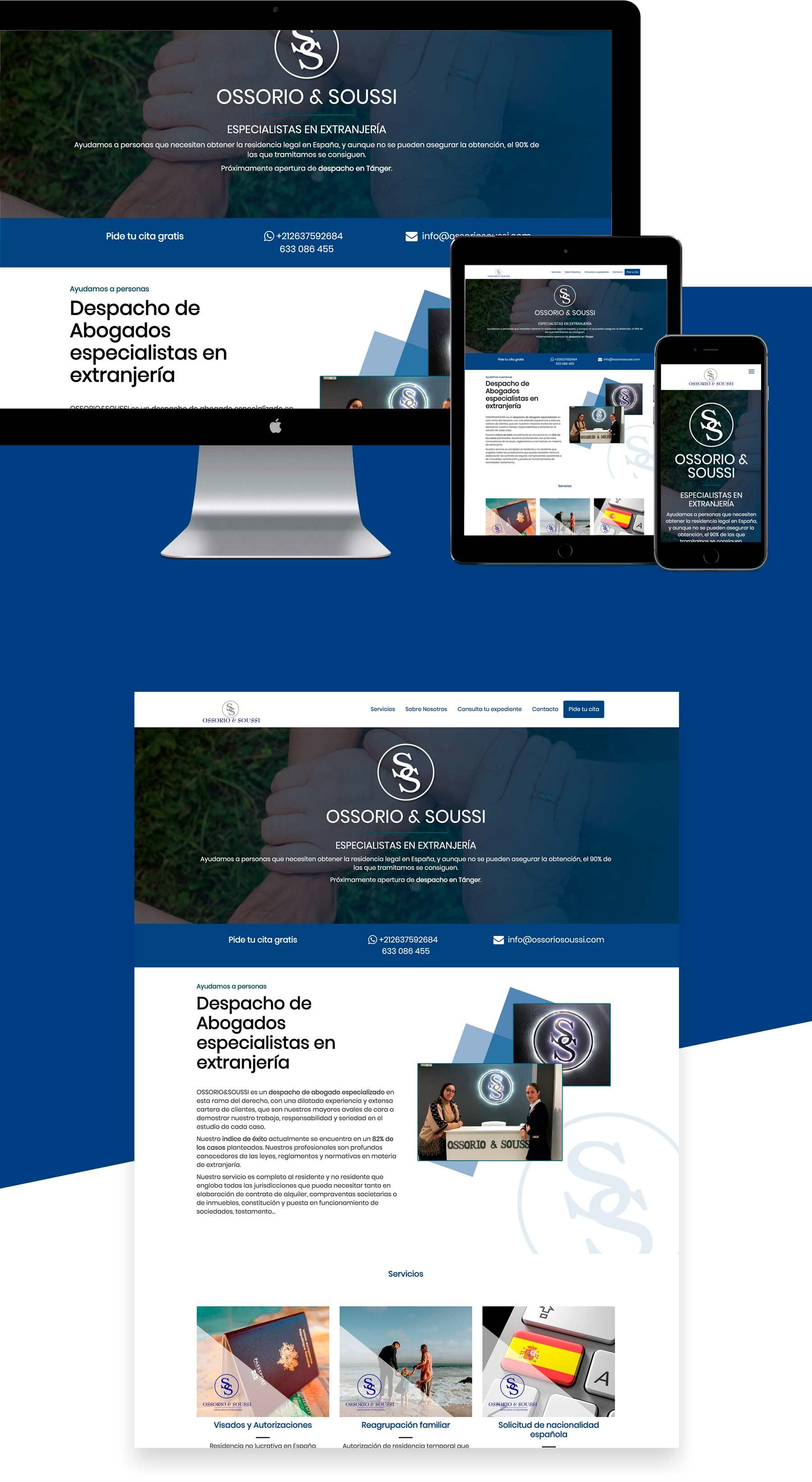 Diseño web para abogado con gestor de clientes y tramites málaga