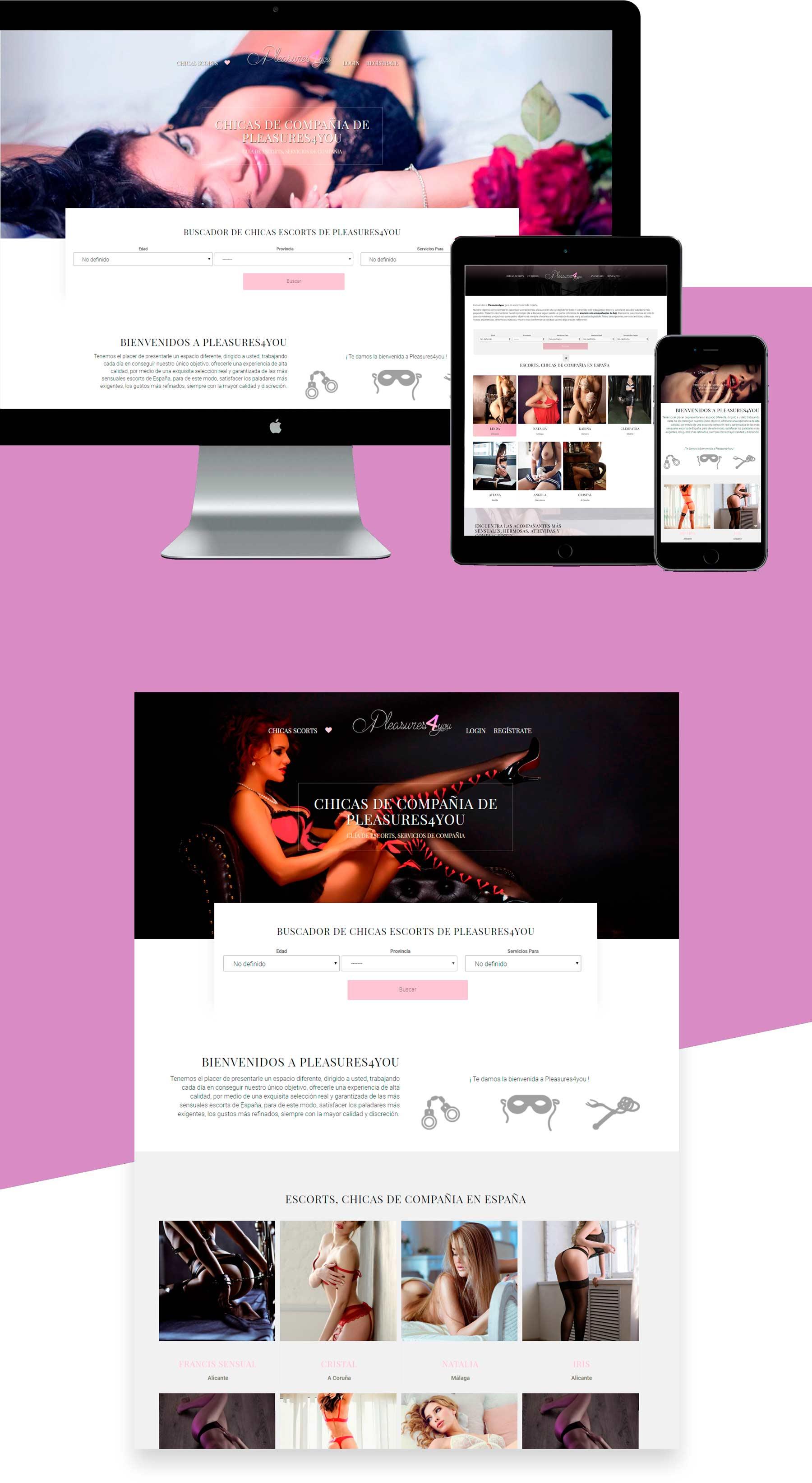 diseño web portal de anuncios de escorts España