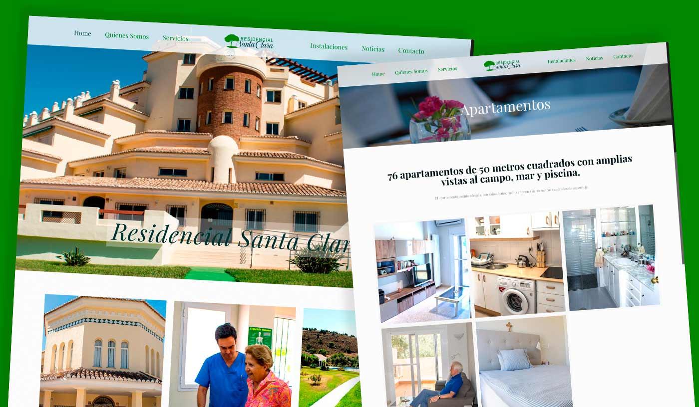 Diseño wordpress Residencial Santa Clara