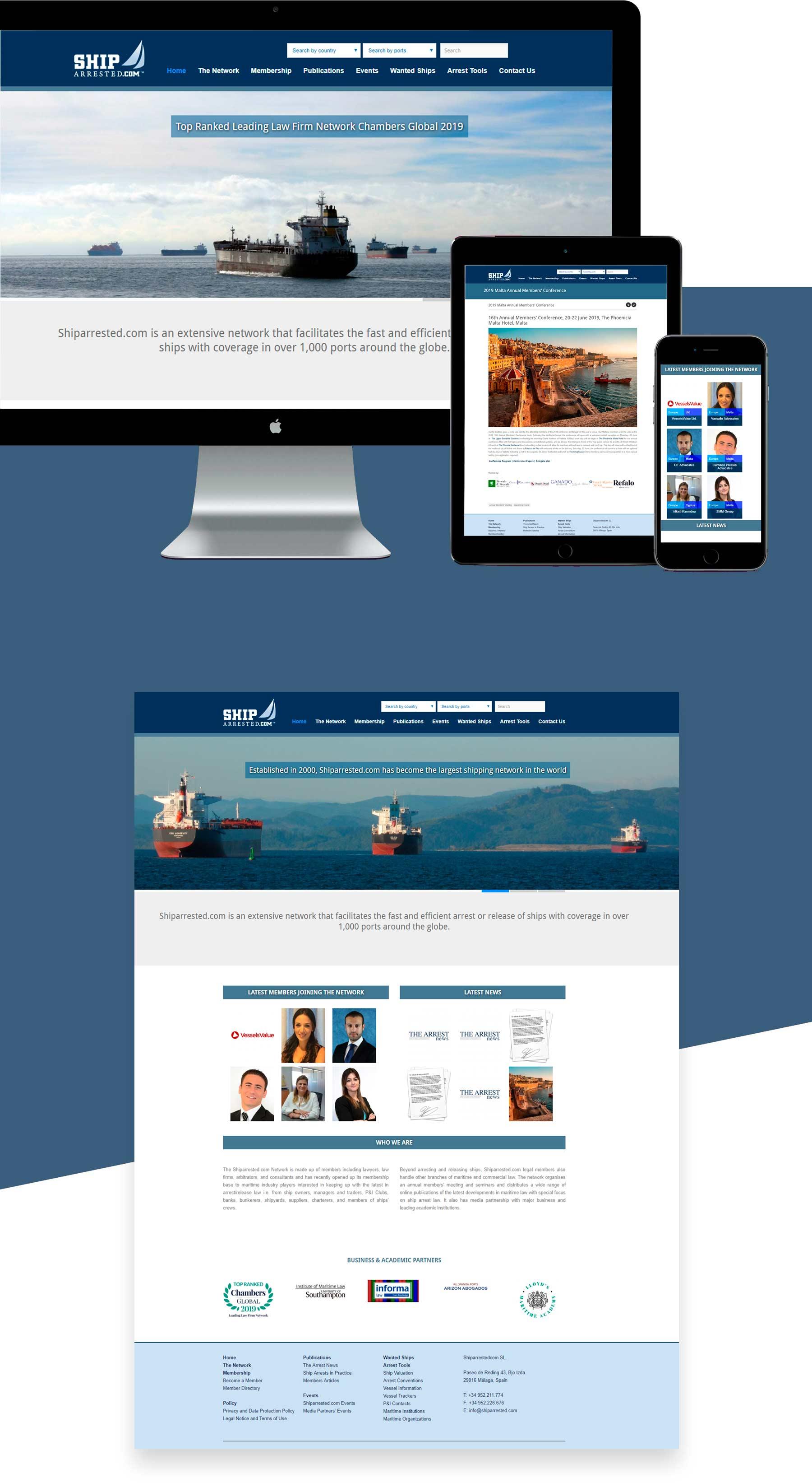 diseño web para directorio de abogados marítimo