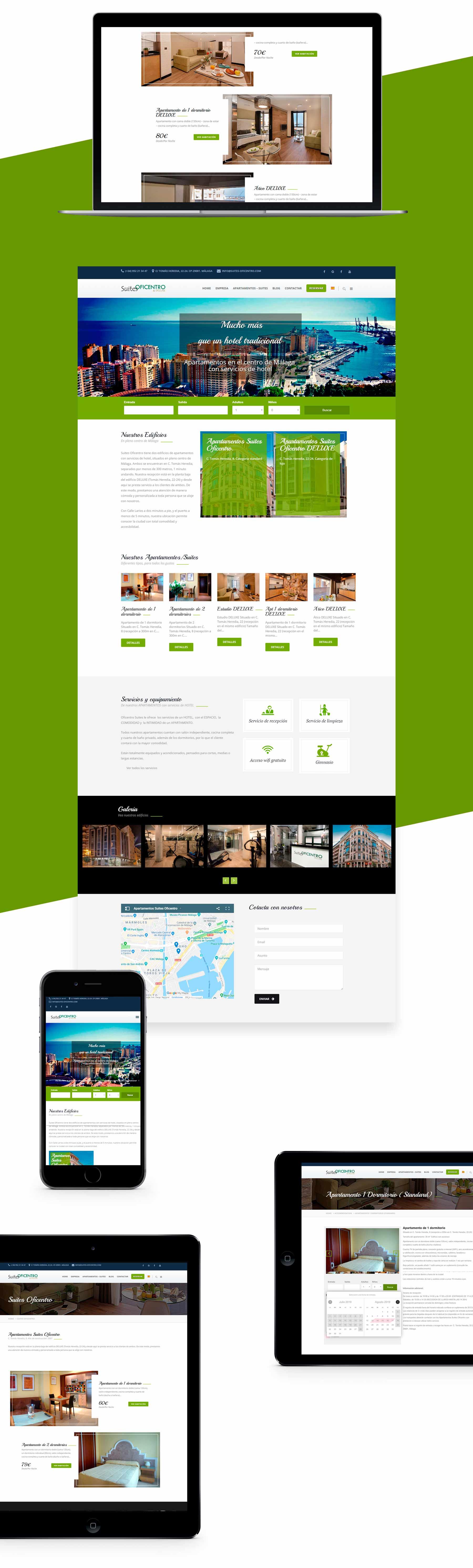 diseño web para hotel de apartamentos suite oficentro - empresa mongini
