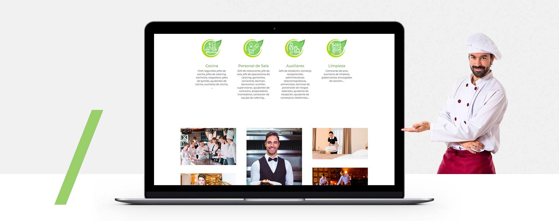 Presentacion diseño web externalizar servicio hotel y restaurante Málaga Madrid