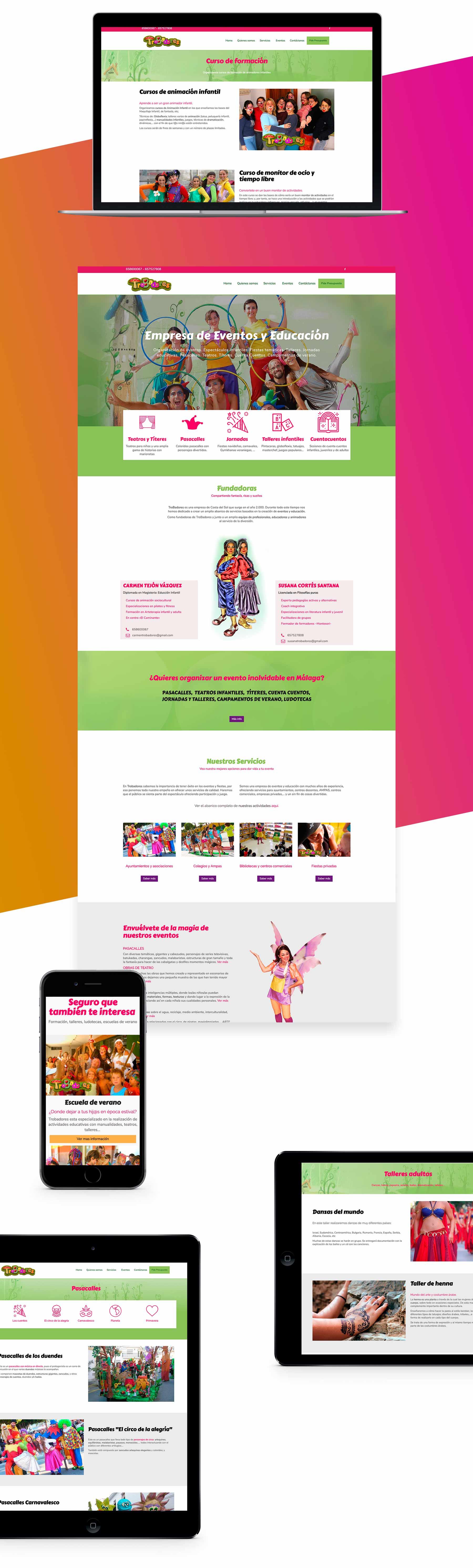 presentacion web fuengirola empresa de animacion