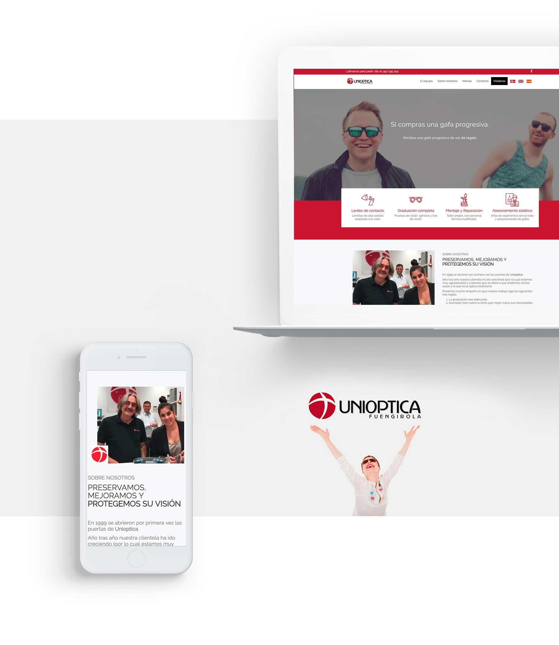 Diseño web optica fuengirola