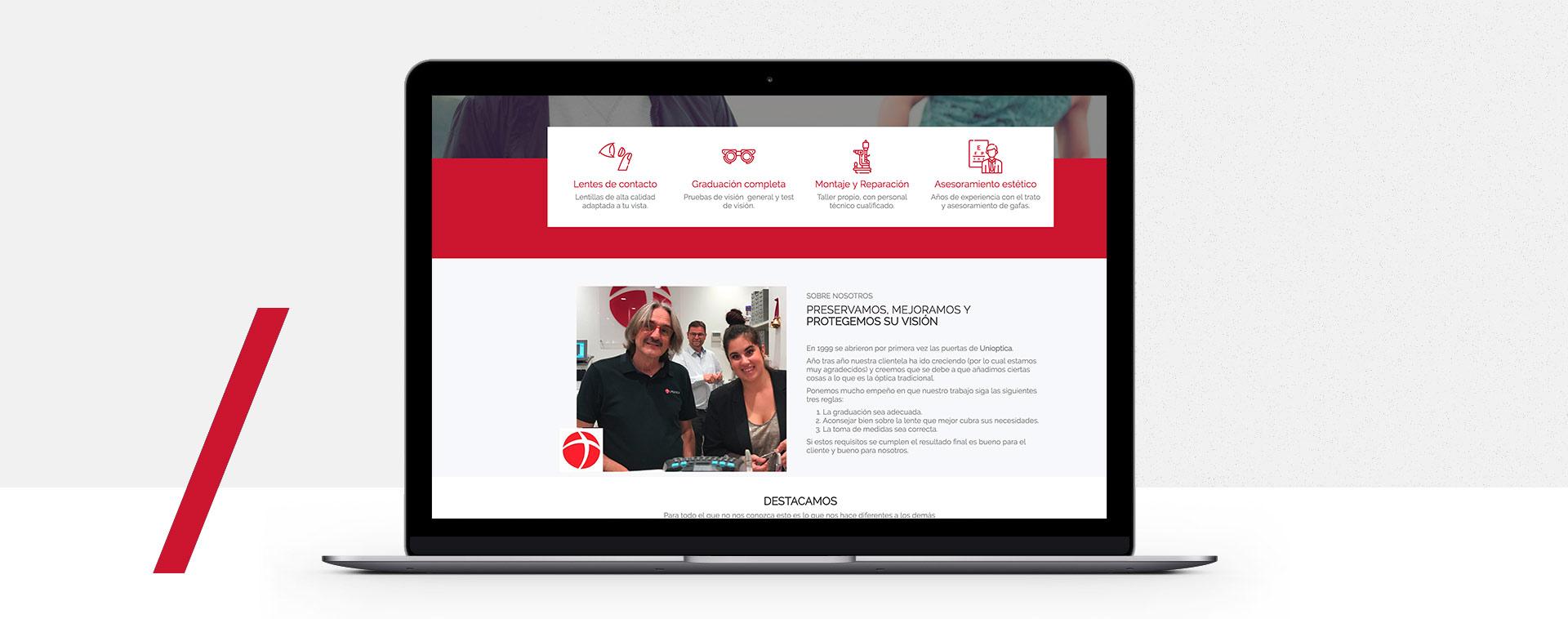 presentacion web fuengirola tienda optica danesa