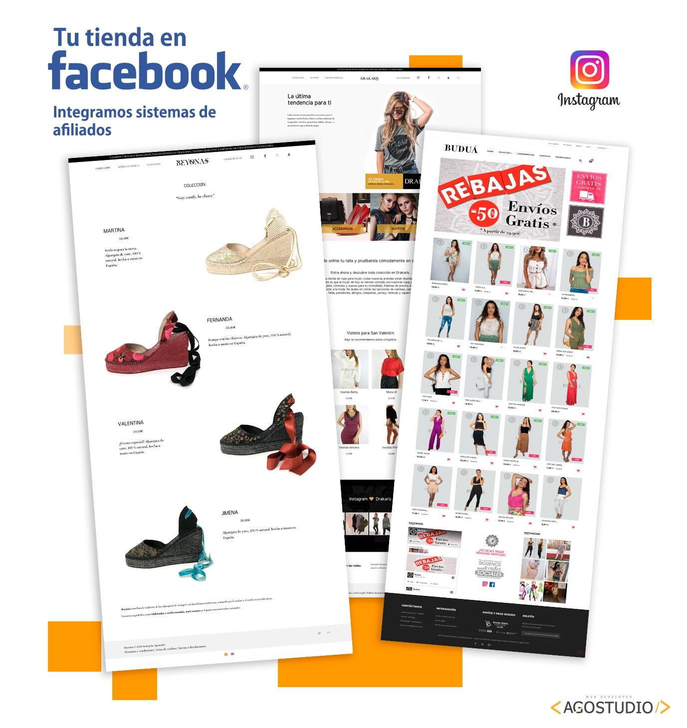Diseño de tienda con wordpress online - tienda en facebook - Málaga
